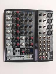 Mesa de som behringer xenyx 1202fx 12 canais