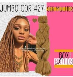 2 pacotes de trança Box braids cor 27 mel
