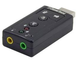 Conversor USB 2.0 para Placa de Som 7.1 Exbom USOM-10