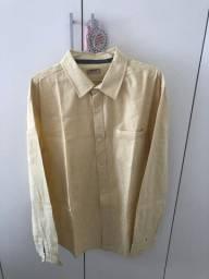 Camisa Social Masculina Amarela Hering Tam G (nunca Usado)