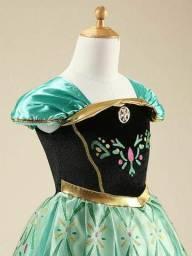 Vestido fantasia infantil Ana entrega gratuita em toda baixada comprar usado  Santos