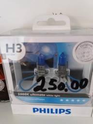 Lâmpada super branca Philips h3