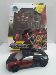 Robô Samy O Guerreiro Transforma Carro Esportivo Brinquedo