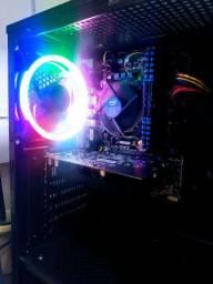 PC Gamer + Monitor 19,5 Led, Intel Core I3 7100, 8GB, SSD 120GB, R7250 2GB, 500W, Gab