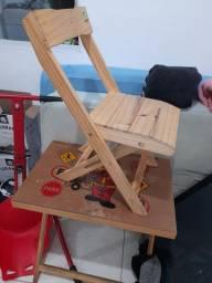 Mesa madeira infantil