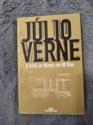 """Livro """"A Volta ao Mundo em 80 Dias"""" de Júlio Verne"""