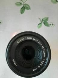Lente Canon efs 55 250mm F4 5.6 is STM