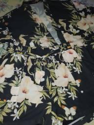 Conjunto com kimono semi-novo