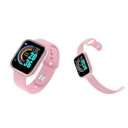 Relógio inteligente smartwatch D20 Rosa<br>