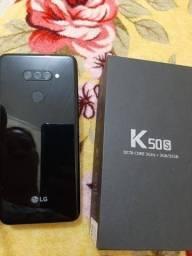 Troco LG K 50 S pouco usado .