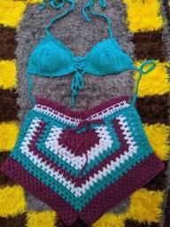 Conjunto de crochê blogueira