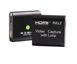 {Entrega Grátis} Mini Placa De Captura Hdmi Rullz Vídeo Capture Com Áudio
