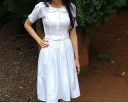 Vestido Branco, casamento civil, tamanho PP