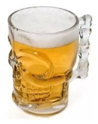 Caneca Chopp Cerveja Vidro Caveira Rock 510 ml x 12x R$ 4,99 x Entrega Grátis