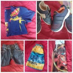Roupinha e sapatos masculino