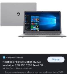 Notebook Positivo 32gb (ler anuncio)