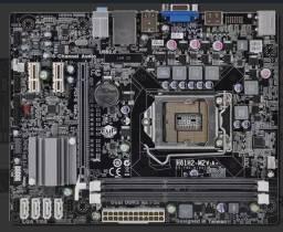 Placa mãe ECS H61H2-M2 (v1.0) core i3 i5 i7 lga 1155 C/ Espelho