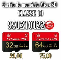 Cartão de memória MicroSD 32Gb e 64Gb