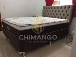 Cama Cama Box + Colchao Sleep King Ortobom Casal 138x188 Melhor Preço Confira