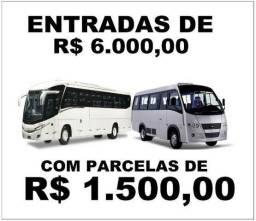 Micro-ônibus Novos e Seminovos (Entrada+Parcelas)