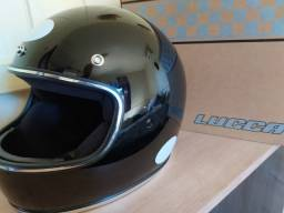 Capacete Magno Lucca Custom Black - NOVO
