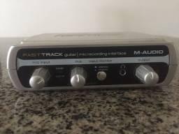 Interface de áudio M-audio Fast Track. Oportunidade!!!!