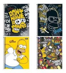 Kit 4 cardenos Simpsons