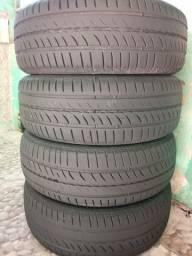 Jogo de pneus seminovos aro 14 185 65
