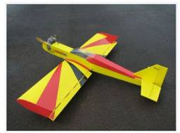 Aeromodelo fly magrao   motor 20 dle