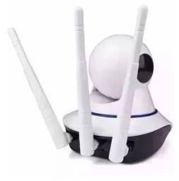 Câmera Ip Wireless Sem Fio Wifi Hd 3 Antenas Noturna