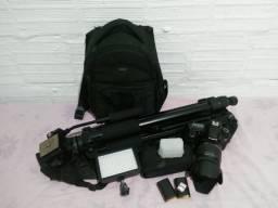 Kit Foto e Filmagem câmera 60D + acessórios