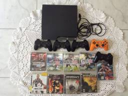 PS3 Com 11 jogos e 5 controles