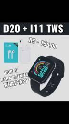 D20 (relógio)+ I11 Tws(fone)-( combo )
