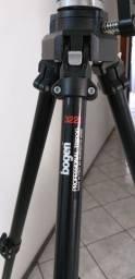 Tripé profissional Bogen, modelo 3221