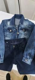 Conjunto Jeans tamanho 8