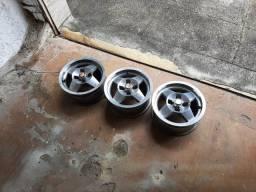 Jogo de rodas para fiat 147, Uno, Chevette e derivados.