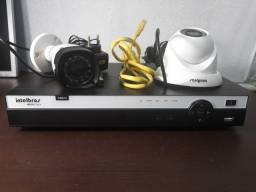 DVR Intelbras 3004 (Com Cameras, HD e Intebras Cloud)