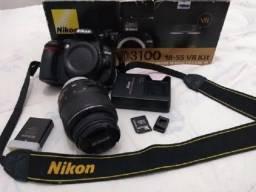 Câmera Profissional Nikon D3100 Semi Nova