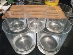 Taças e copos de cristal Strauss