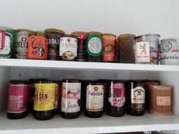 Coleção de Garrafas de Cerveja