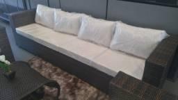Jogo de sofá 4 lugares