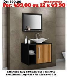 Gabinete de Banheiro com Cuba - Balcão de Banheiro - Banheiro - Balcão - Pia de Banheiro