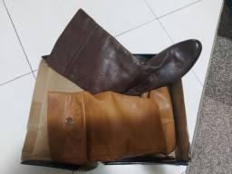 Botas novas couro  n.36