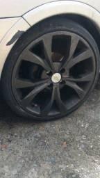 Jante aro 17  com dois pneu Bom