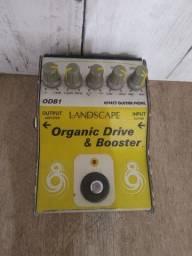 Pedal de guitarra orgânica drive & booster