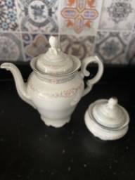 Bule e açucareiro porcelana schimidt