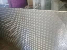 Chapa de alumínio seminova 3m por 1.25largua