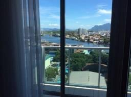 Apartamento mobiliado vista livre 02 quartos varanda piscina pronto para Morar