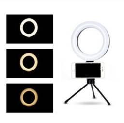 Ring Light Led de Mesa com Suporte para Celular!