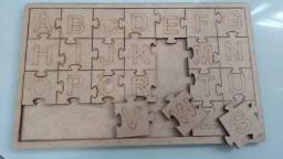 Lembrança quebra cabeça alfabeto